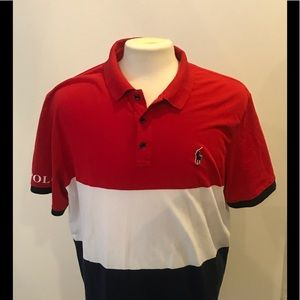 Ralph Lauren polo red white blue